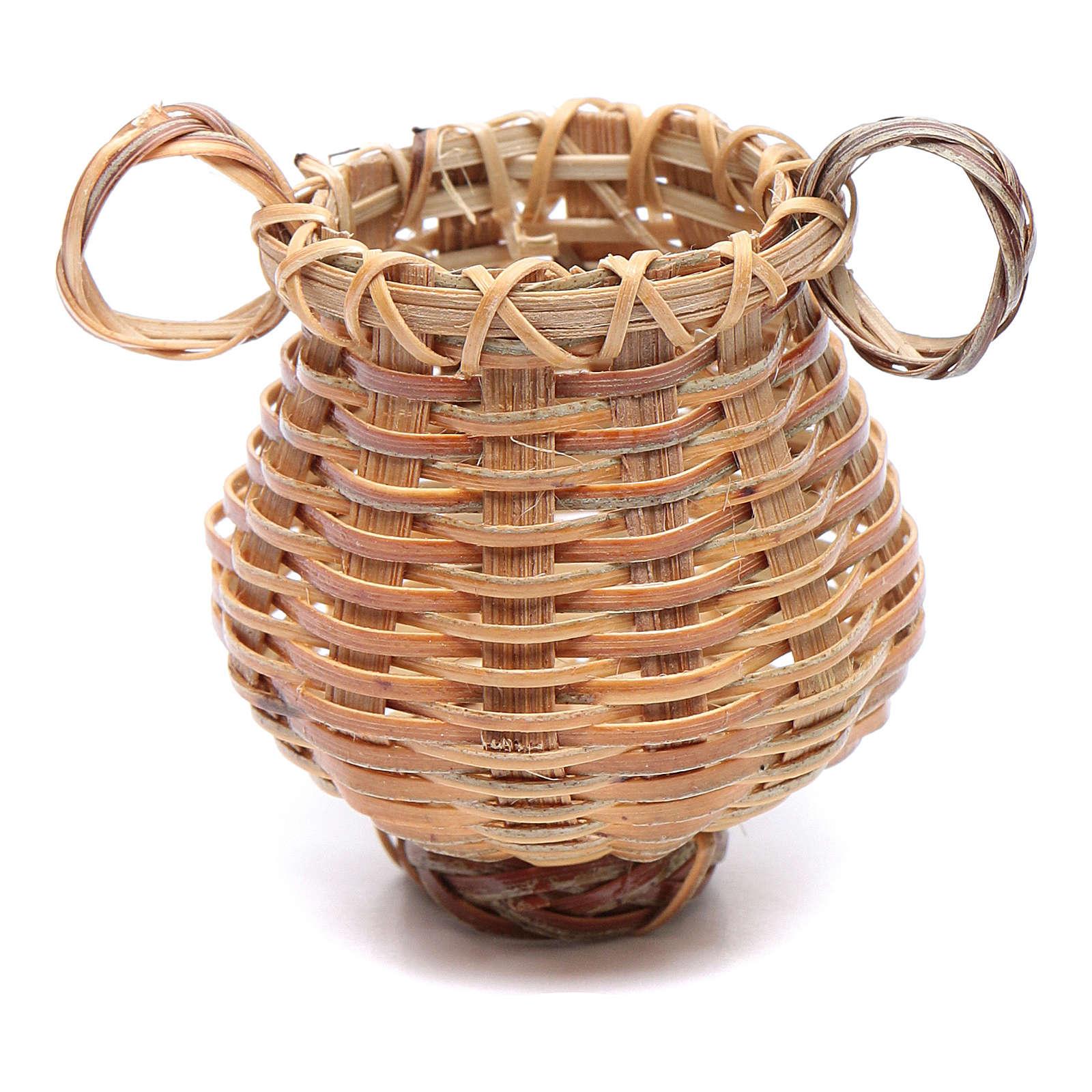 Panier osier en forme de cruche pour crèche 4x4 cm 4