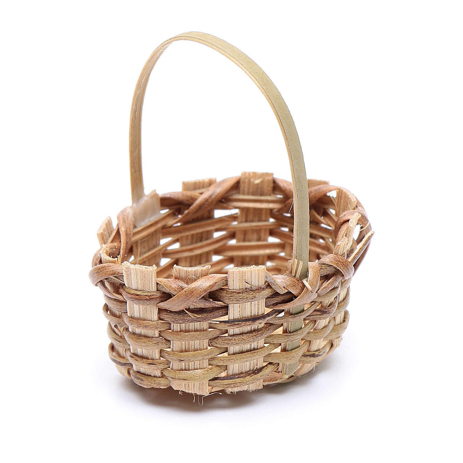 Miniature wicker basket, oval for nativity 4.5x3 cm 4