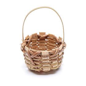Miniature wicker basket, oval for nativity 4.5x3 cm s2