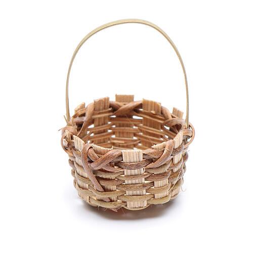 Miniature wicker basket, oval for nativity 4.5x3 cm 2