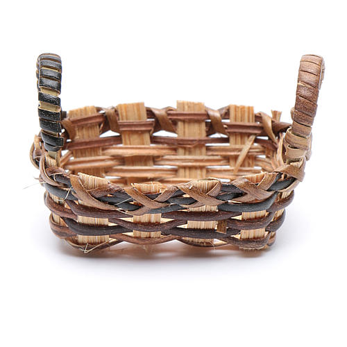 Nativity Wicker Basket for Clothes 3.5x4.5 cm 2
