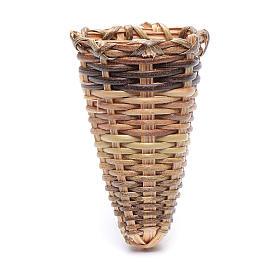 Herramientas de trabajo: Cesta mimbre belén hecho con bricolaje 4,5x3 cm