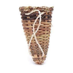 Panier épaules osier bricolage crèche 4,5x3 cm s2