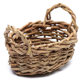 DIY nativity scene wicker basket for laundry 6x6x9 cm s1
