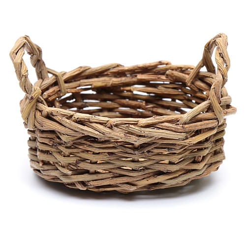 DIY nativity scene wicker basket for laundry 6x6x9 cm 2