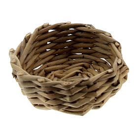Wicker basket for eggs 1x3 cm Nativity Scene s1