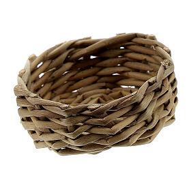 Wicker basket for eggs 1x3 cm Nativity Scene s2