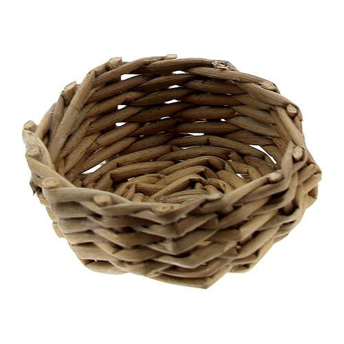 Wicker basket for eggs 1x3 cm Nativity Scene 1