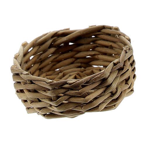 Wicker basket for eggs 1x3 cm Nativity Scene 2