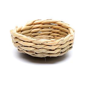 Panier en osier pour oeufs 1x3 cm crèche s1