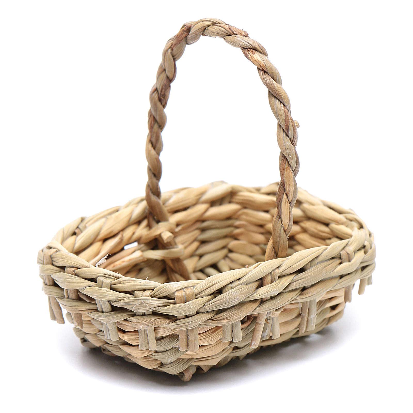 DIY nativity scene wicker basket 4,5x6 cm 4