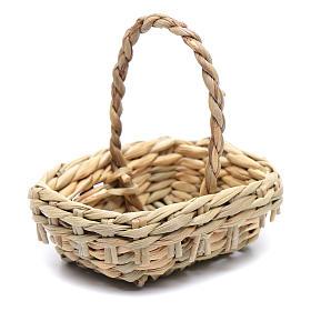 DIY nativity scene wicker basket 4,5x6 cm s1