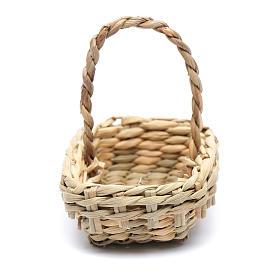 DIY nativity scene wicker basket 4,5x6 cm s2
