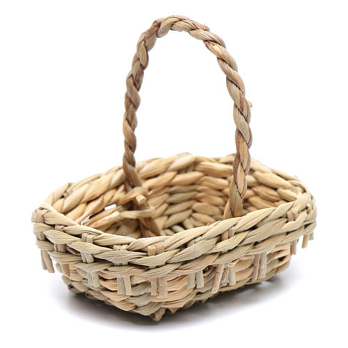 DIY nativity scene wicker basket 4,5x6 cm 1