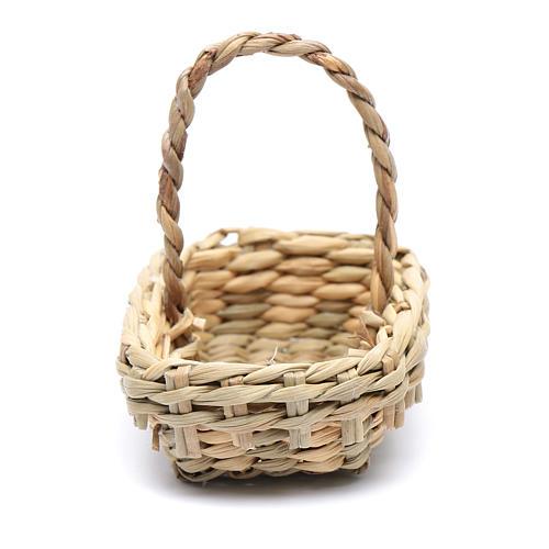 DIY nativity scene wicker basket 4,5x6 cm 2