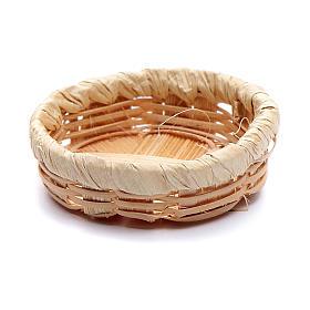 DIY nativity scene wicker basket  1x4 cm s1