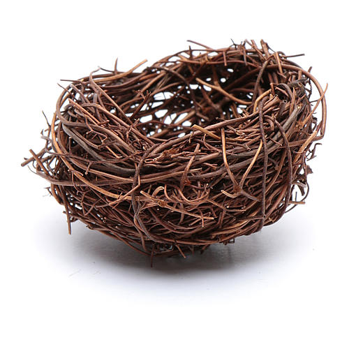 DIY nativity scene nest 4 cm diameter 1