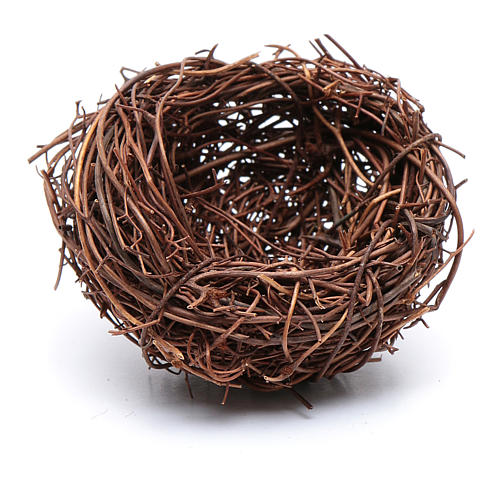 DIY nativity scene nest 4 cm diameter 2