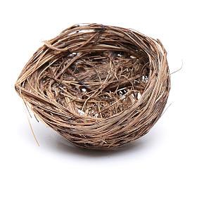 Bird nest for DIY Nativity Scene diam 4 cm s2