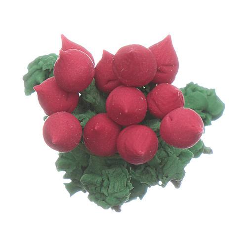Rábano rojo 2x2 cm belén hecho con bricolaje 2