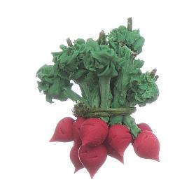 Comida em Miniatura para Presépio: Rabanete vermelho 2x2 cm bricolagem presépio