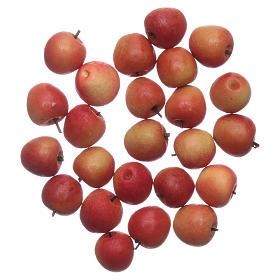 Żywność w miniaturze szopka: Jabłka pomarańczowe 1x1 cm szopka zrób to sam 24 szt