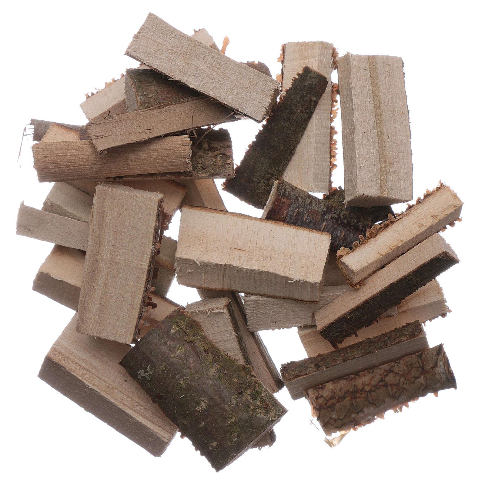 Ceppi legna tagliata presepe 100 gr 4