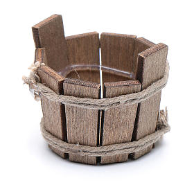 Miniature tools: DIY nativity scene wooden tub 2,5x3 cm