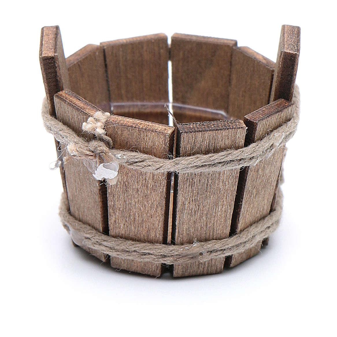 Cuba de madera 2,5x3 cm belén hecho con bricolaje 4