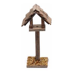 Animales para el pesebre: Casita para pájaros belén 11x5x3 cm
