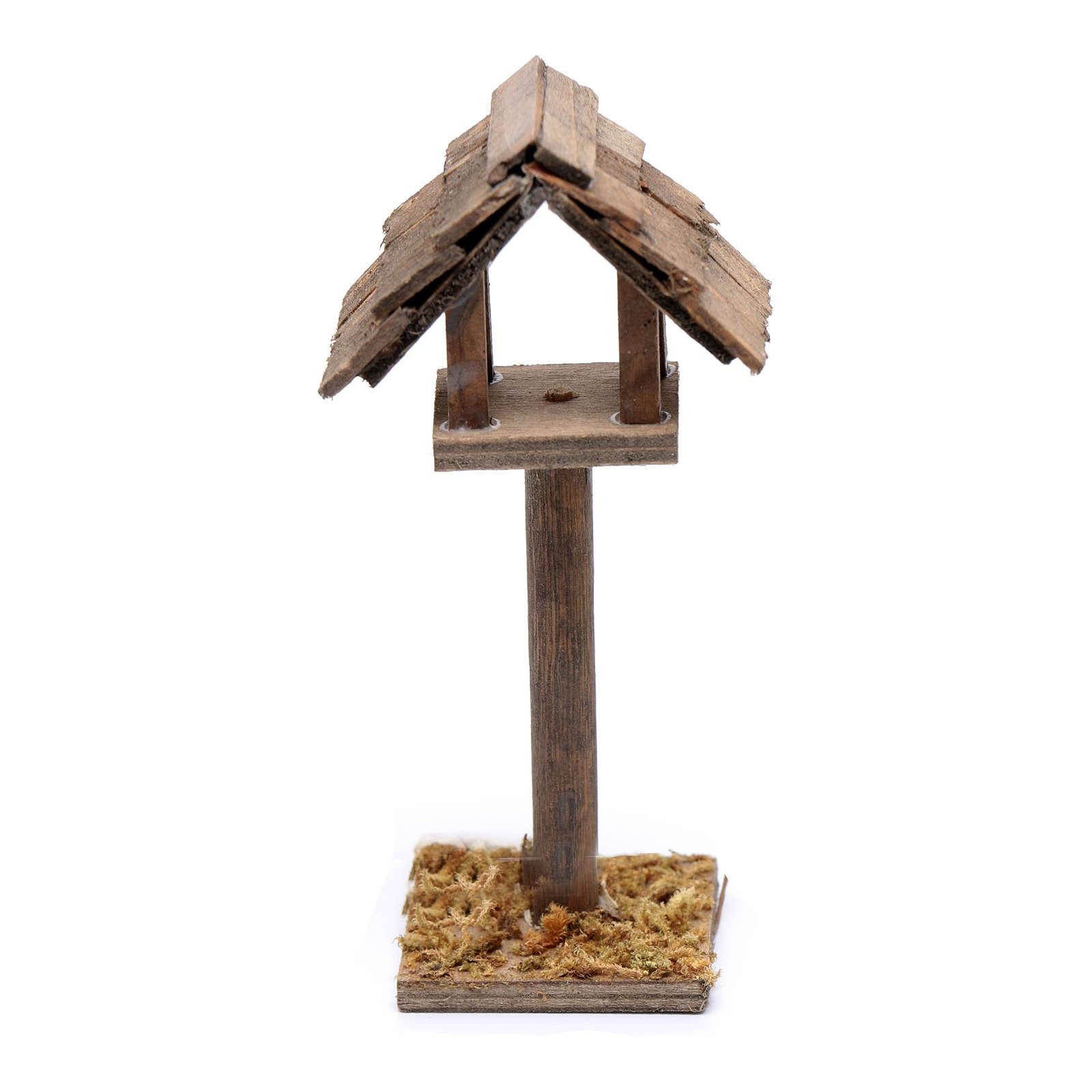 Casetta degli uccelli presepe 11x5x3 cm 3