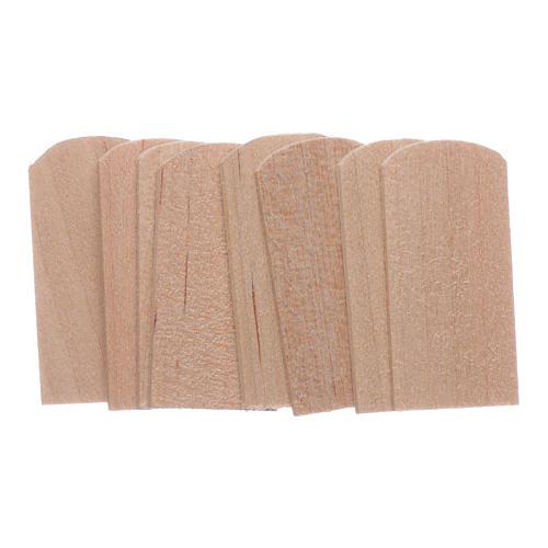 Scandole di legno 1,2x2,4 cm presepe 100 pz 1