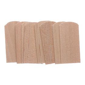 Acessórios de Casa para Presépio: Telhas de madeira 1,2x2,4 cm presépio 100 peças