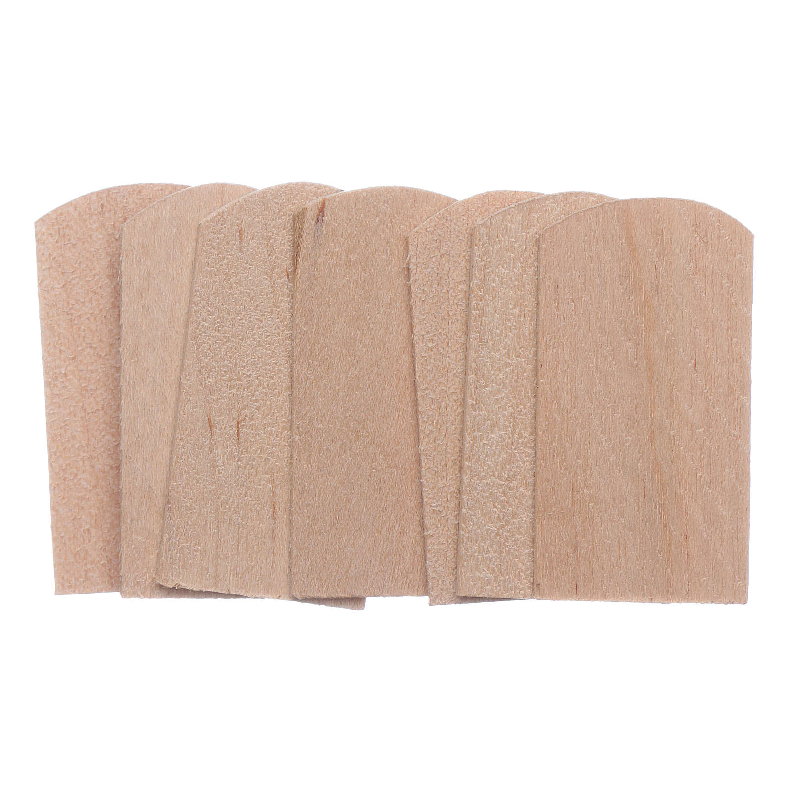 Tejas madera 100 piezas belén 1,5x3 cm 4