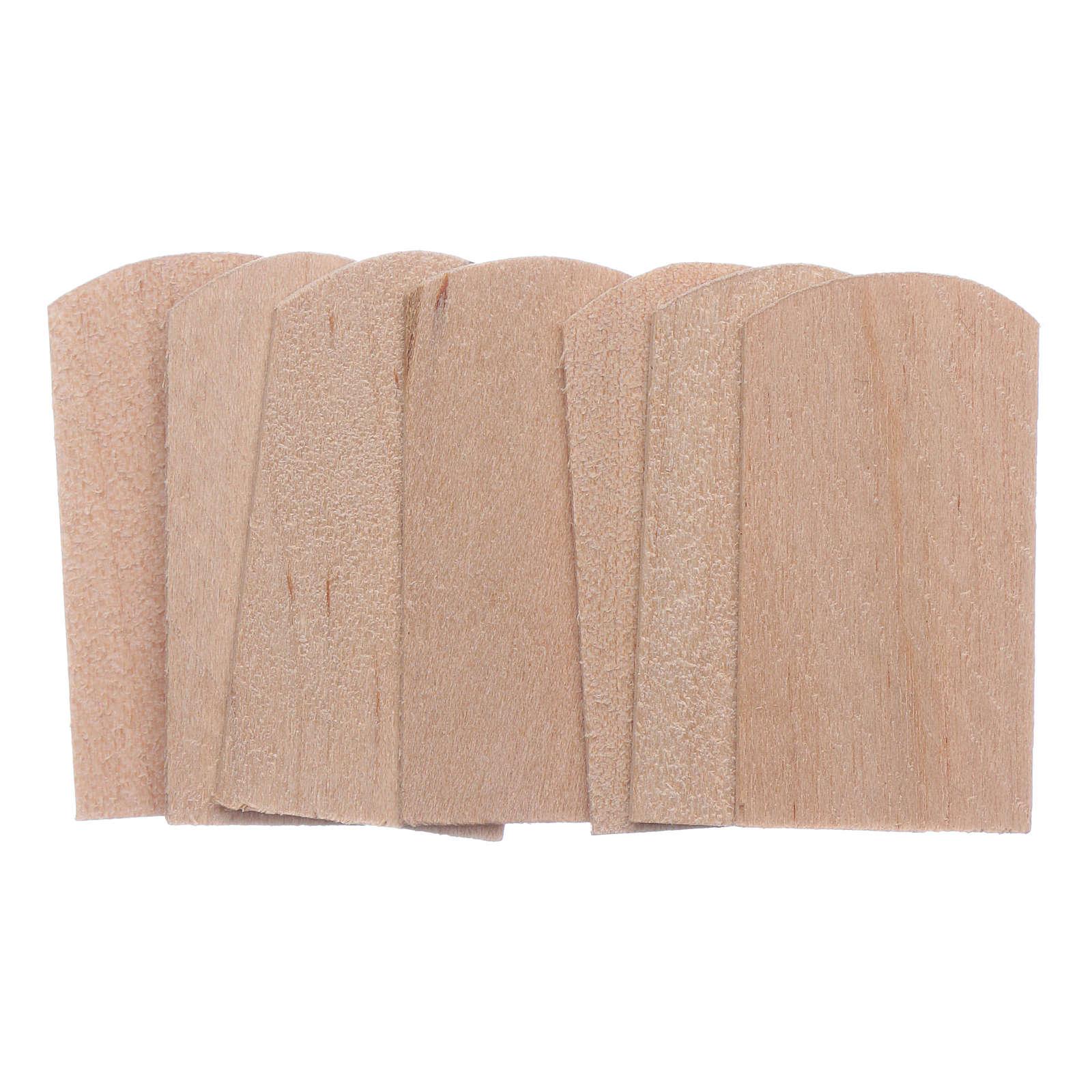 Tuiles bois 100 pcs 1,5x3 cm crèche 4