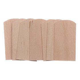 Acessórios de Casa para Presépio: Telhas madeira 100 peças presépio 1,5x3 cm