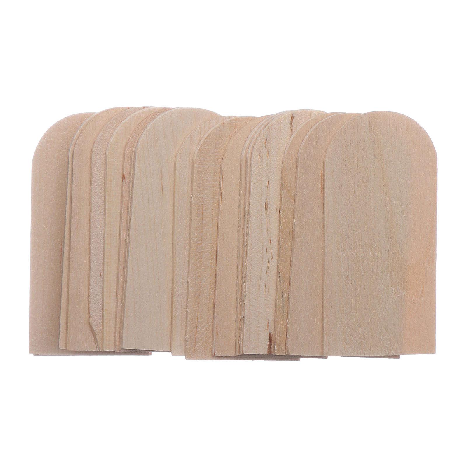 Scandole legno presepe 100 pz 2,5x5 cm 4