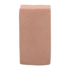 Ziegelsteine für Krippe 3,5x2 cm Terrakotta s2
