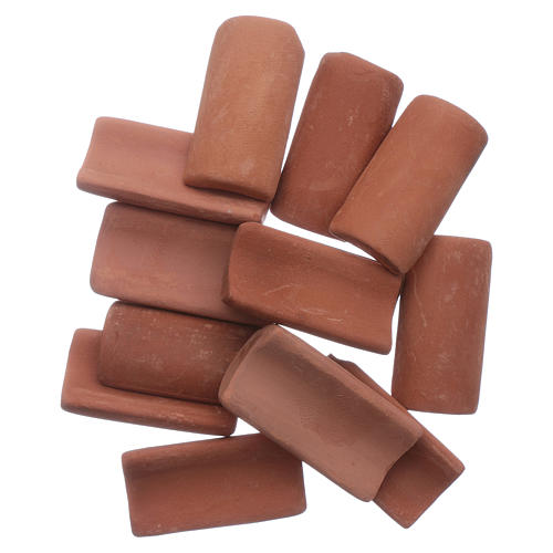 DIY nativity scene terracotta shingles 25 pieces 3x1 cm 1