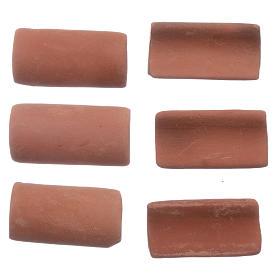 Tejas terracota 25 piezas belén 3x1 cm s2