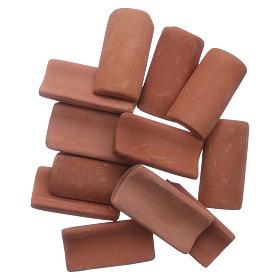 Acessórios de Casa para Presépio: Telhas terracota 25 peças presépio 3x1 cm
