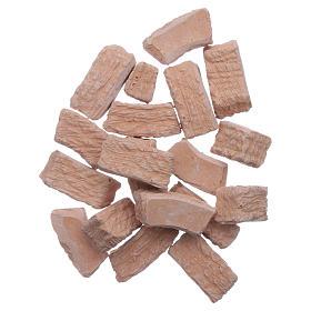 Acessórios de Casa para Presépio: Pedras para arco terracota 100 peças presépio 2x1x1 cm