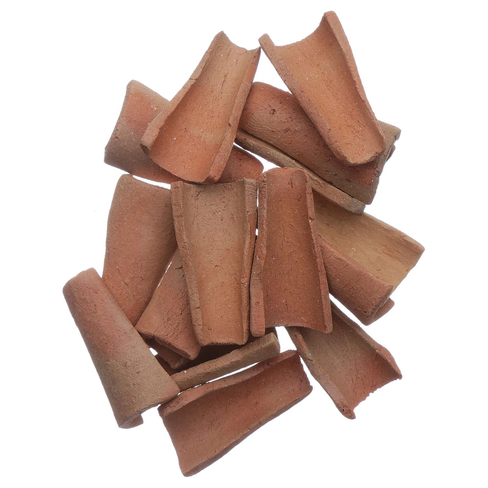Coppi terracotta 100 pz presepe 3x1,6x1 cm 4