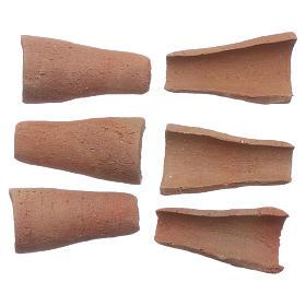 Coppi terracotta 100 pz presepe 3x1,6x1 cm s2