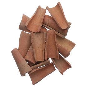 Acessórios de Casa para Presépio: Telhas terracota 100 peças presépio 3x1,6x1 cm