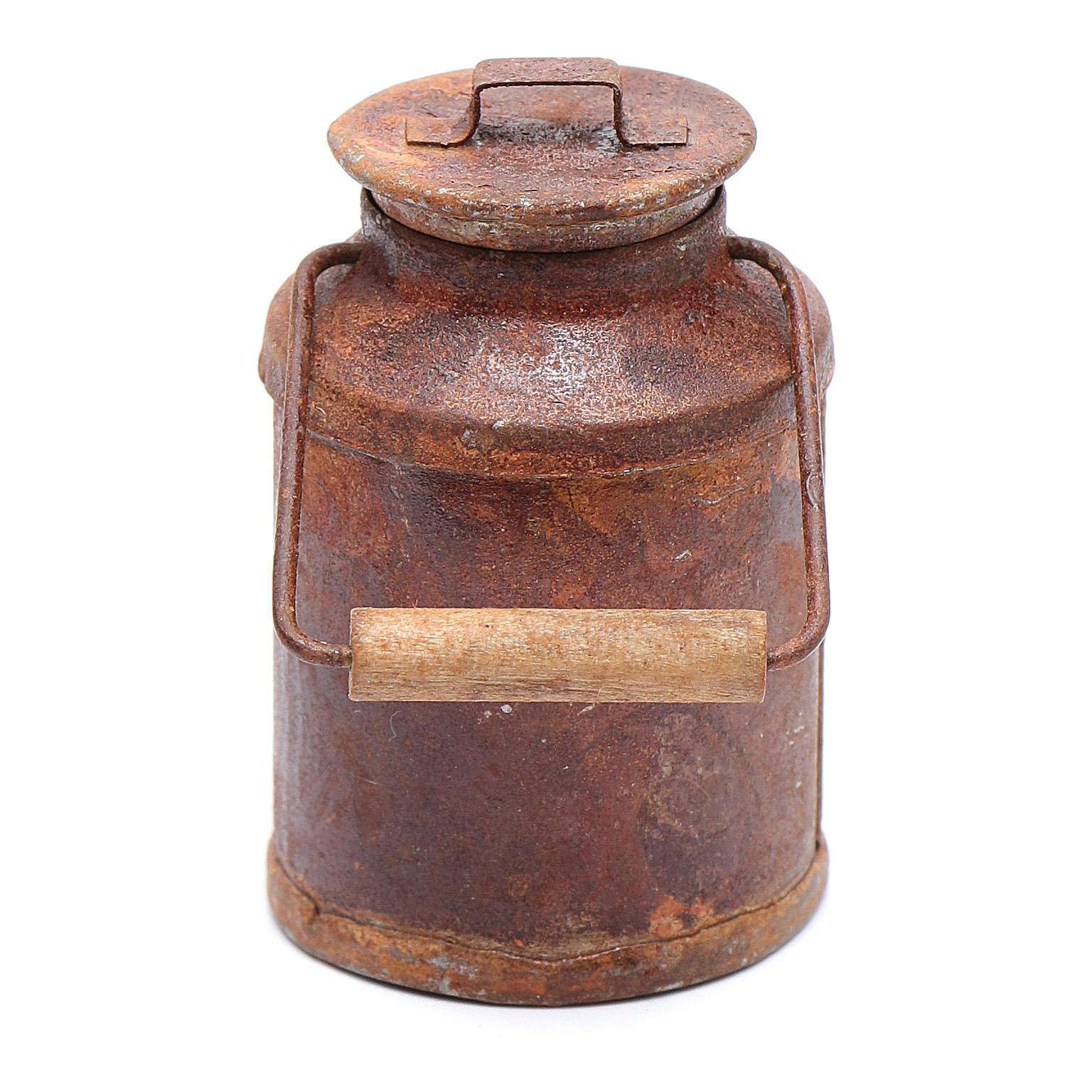 Cubo de leche oxidado belén 5x3 cm 4