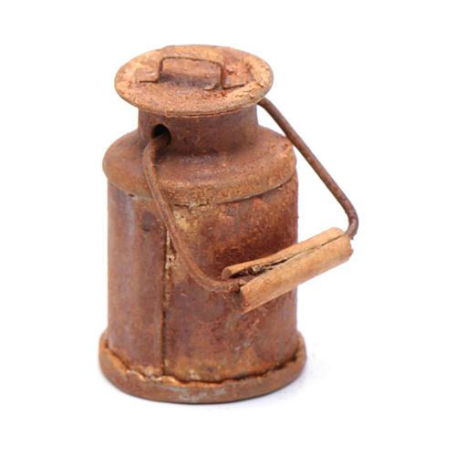Milchkanne Antik-Look 3,5x2 cm Zubehör für DIY-Krippe 1