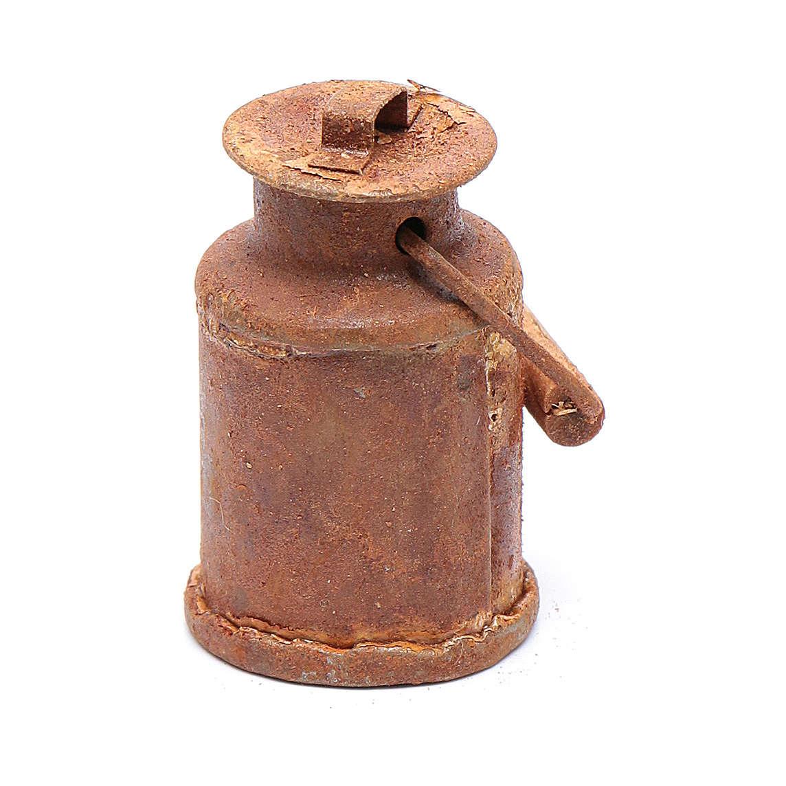 Rusty milk bucket for Nativity Scene 3.5x2 cm 4