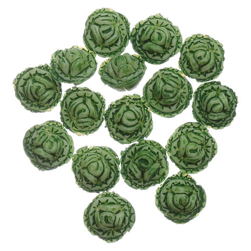 Cabbage 24 pieces for DIY Nativity Scene 1.5x1.5 cm 1