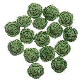 Comida em Miniatura para Presépio: Alfaces 24 peças bricolagem presépio 1,5x1,5 cm